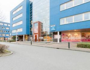 Middelste blauwe gebouw